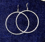 Earrings, Hammered Skinny Loop, 1-1/2 inch dia.