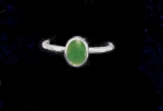 Jade 6x8mm ring